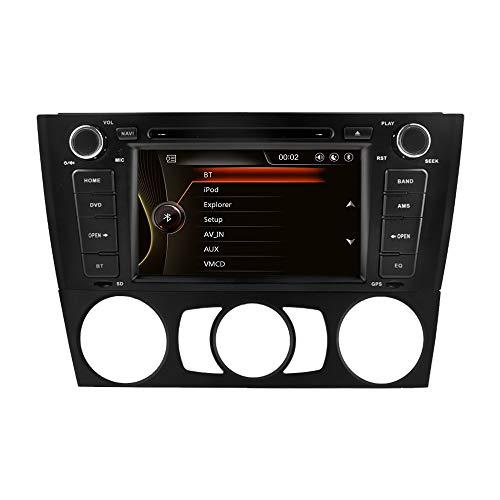ZLTOOPAI Autoradio stereo, voor BMW E81 E82 E87 E88 1 Series 7-inch multi-touchscreen-autoradio GPS-radio DVD-speler met gratis kaartkaart achteruitrijcamera verwijderbare tools