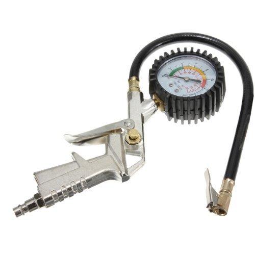 takestop Pistola de aire YF para neumáticos de coche, moto, bicicleta, con manómetro para compresor inflado