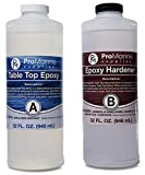 Clear Table Top Epoxy Resin That Self Levels Original Formula, This is a 1/2 Gallon High Gloss (0.25 Gallon Resin + 0.25 Gallon Hardener) Kit