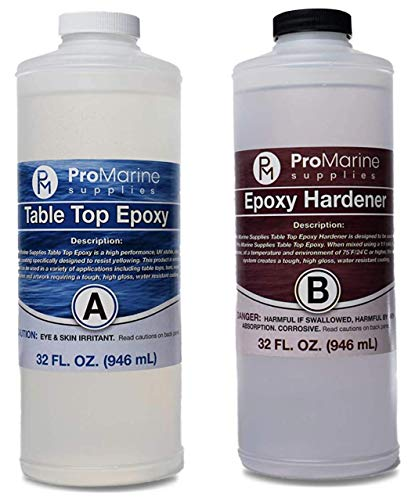 Clear Table Top Epoxy Resin That Self Levels Original Formula, This is a 1 2 Gallon High Gloss (0.25 Gallon Resin + 0.25 Gallon Hardener) Kit