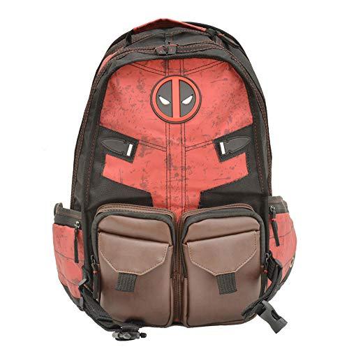 Deadpool Rucksack Marvel Marvel Tasche Deadpool Deadpool Film und Fernsehen rund um Rucksack Fabrik Spot Schultasche-Rötlich schwarz_21 Zoll