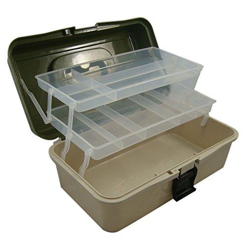 Lunar Box Angelkoffer – 2 Drehbare Etagen mit Verstellbaren FÄChern – Ideal für Angelzubehör, Angelhaken, Schwimmer und Köder