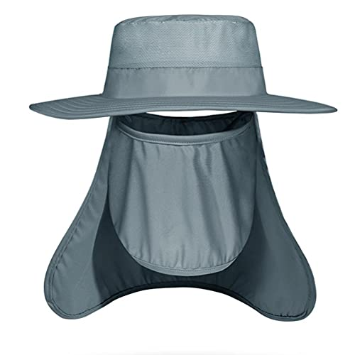 Nuryme Sombrero de verano para hombre, sombrero de pescador, sombrero de sol, sombrero de pesca UPF 50+, resistente al agua, sombrero de senderismo, protección para la nuca