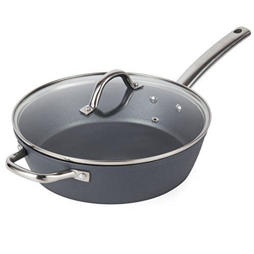 Tower Ice Diamond Saute Pan 28 cm, Non Stick and Easy to Clean, Grey