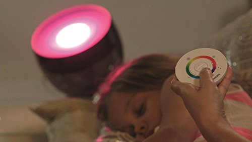 Philips Living Colors Iris, Energiesparende LED-Technologie mit 10 Watt,16 Millionen Farben, mit Fernbedienung, schwarz 7099930PH - 7