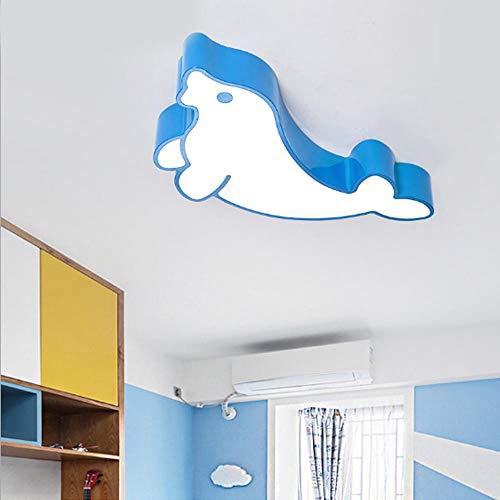 Home Creative Early Learning Plafonniers Maternelle Garçons Et Filles Dessin Animé Sceau Éclairage Led Bleu Lampe De Plafond