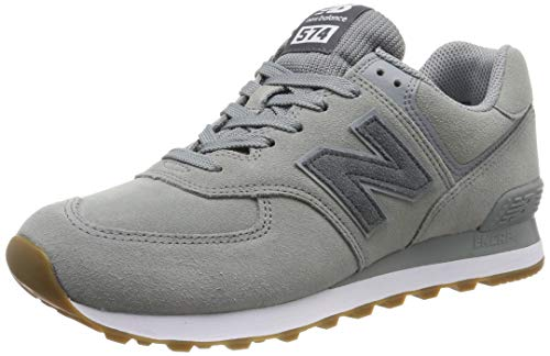 New Balance Herren ML574 D Sneaker, Grau (Grey/White Grey/White), 42.5 EU