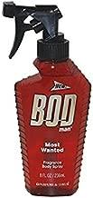 Parfums De Coeur Bod Man Most Wanted Fragrance Body Spray for Men, 8 Ounce