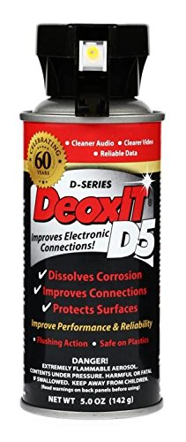DeoxIT 5% Spray Contact Cleaner, 5 oz.