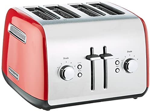 kitchen aid 4 slice toasters KitchenAid KMT4115ER Toaster with Manual High-Lift Lever, Empire Red