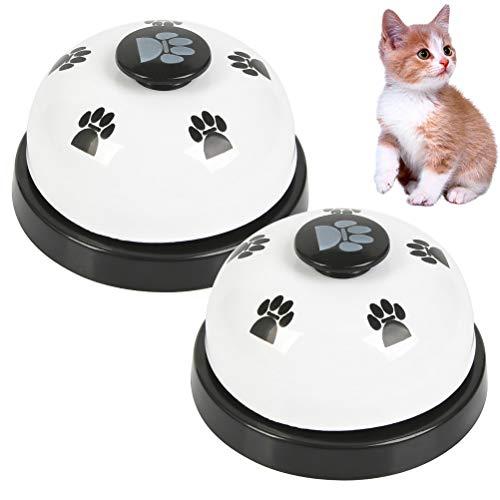 FOROREH 2pcs campanas de entrenamiento para mascotas, timbre de perro para entrenamiento de inodoro para cachorros y dispositivo de comunicación
