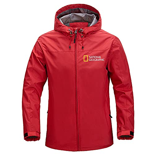 GYH Men's Windproof Jacket Brand Casual Outdoor Waterproof Hooded National Geographic Coat Sports Outwear Overcoat Man Clothing-9  XL