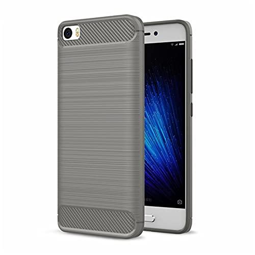 LBWNB Carcasa de telefono Fit For Xiaomi MI 5 Funda a Prueba de choques Fibra de Carbono Fit For Xiaomi MI5 Soft TPU TPU Pulso de Silicona Caja de Fit For Xiaomi MI 5 Caja de teléfono móvil Lí