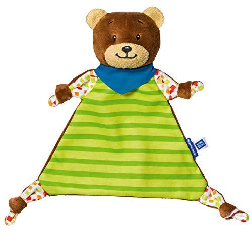 Ravensburger ministeps 4155 Schmuse-Bär 4155, Kuscheltier und Schmusetuch mit Rassel, Baby Spielzeug ab 0 Monate