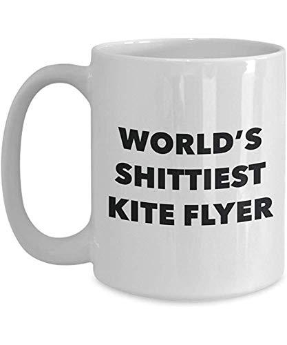 sodnz Kaffeebecher Kite Flyer - Das Shitti-Est Der Welt Kite Flyer - Kite Flyer-Geschenke - Individuell Gestaltete Büromilch Für Mitarbeiter
