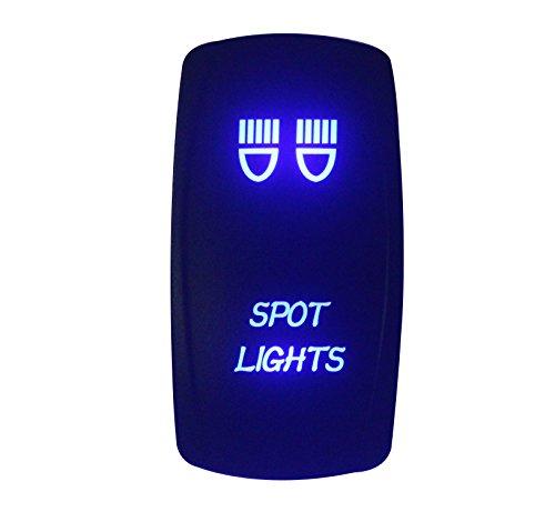 BANDC 12V/24V foco luces láser grabado Rocker Interruptor LED azul 5pines SPST ON-OFF para ARB Carling Narva estilo repuesto Marino grado impermeable IP66