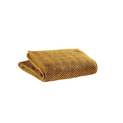 Vivaraise - Drap de Bain Roberto – 100x180 cm – Serviette de Plage, Spa, Piscine, hammam – Liteau Grande Taille – Tissu éponge Absorbant – 100% Coton – Motif Chevrons