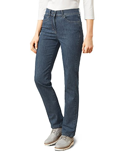 Walbusch Damen Powerstretch Jeans Regular Fit einfarbig Blue Stone 22