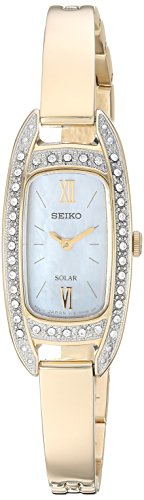 Seiko Women's Jewelry Japanese-Quartz Watch with Stainless-Steel Strap, Gold, 6.6 (Model: SUP390)
