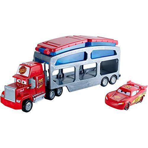 Disney The Movie Cars Mack Trasportatore Cambia Colore, Playset con Veicolo Saetta McQueen Incluso, CKD34