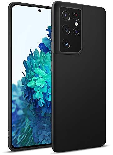 BENNALD Hülle für Samsung Galaxy S21 Ultra Hülle, Soft Schutzhülle Hülle Cover - Premium TPU Tasche Handyhülle für Samsung Galaxy S21 Ultra (Schwarz,Black)