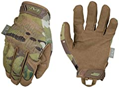 Form-fitting TrekDry material with MultiCam camouflage helps keep hands cool and comfortable. Thermal Plastic Rubber (TPR) hook and loop closure provides a secure fit. Seamless single layer palm provides maximum dexterity. Nylon web loop provides con...