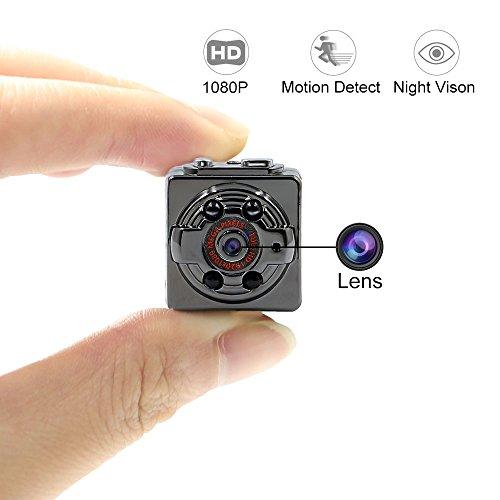 Mini Spy Camera, Tangmi Hidden Camera 1080P HD Spy Hidden Camera Portable Tiny Camera With Night...