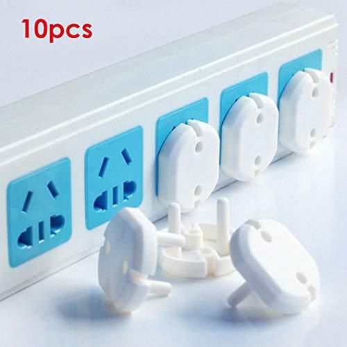 Josopa Stopcontact, 10 stuks, EU-stopcontact, beschermkap, stopcontact, baby's, kinderen, bescherming tegen stoten, elektrische stekker