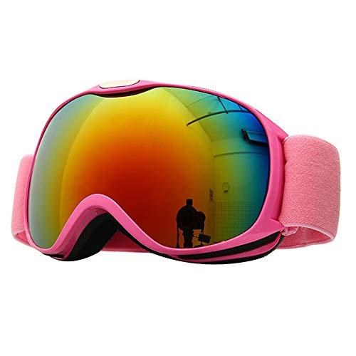 ZXLIFE@@ skibril, sneeuwveiligheidsbril, snowboardbril, bril en helm, compatibel met ski/Snowboard yellow