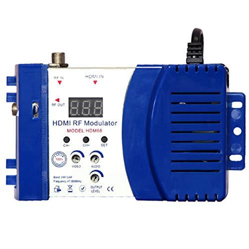 Dailyinshop Modulatore HDM68 Modulatore RF Digitale HDMI Convertitore AV a RF Modulatore Portatile VHF UHF Pal/NTSC Standard (Colore: Blu) -2
