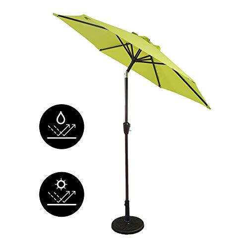 Parasols Parapluie Extérieur Vert, Auvent de Remplacement de Parapluie de Marché de Parapluie Supérieur de Patio avec 8 Nervures, 2,25 m / 7,38 Pi