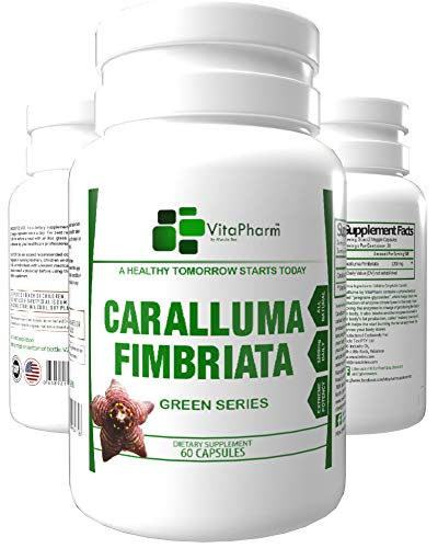 Caralluma Fimbriata by VitaPharm Nutrition | Organic Suppressant | 1200mg Complex | for Men & Women | Advanced Natural Weight Loss Formula | for Men & Women | Vegan Friendly Capsules
