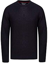 The 'Olney' crew neck, Fisherman style jumper by Kensington Eastside is a versatile piece that will slot into your wardrobe with ease. Constructed in a medium gauge 'waffle' knit. Featuring a classic crew neckline and ribbed hem and sleeves. Ideal fo...