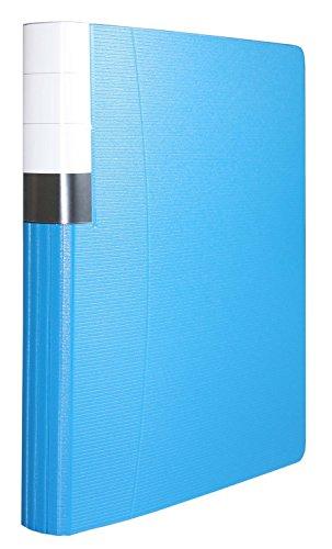 Idena 224346 - Ringbuch DIN A4, 2-Ring-Mechanik, 35 mm Rückenbreite, runder Rücken, blau