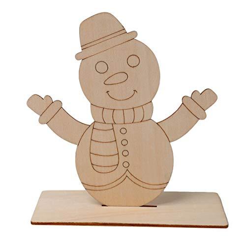 SUNSKYOO - Tabla de Madera para Pintar con diseño de Papá Noel y muñeco de Nieve, Madera, muñeco de Nieve, As...