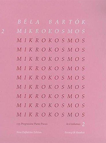 Mikrokosmos: 153 Klavierstücke, vom allerersten Anfang an. Vol. 2. Klavier.: 153 Progressive Piano Pieces