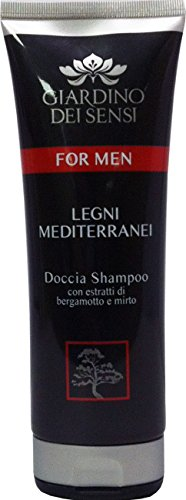 6 x GIARDINO DEI SENSI Doccia Shampoo For Men Legni Medit.250 Ml