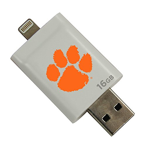 Clemson Tigers i-FlashDrive HD USB Drive 16GB - White