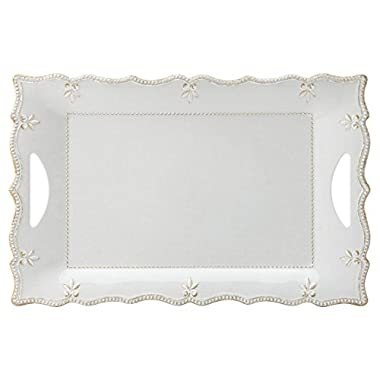 Lenox French Perle Melamine Gray Large Rectangular Platter