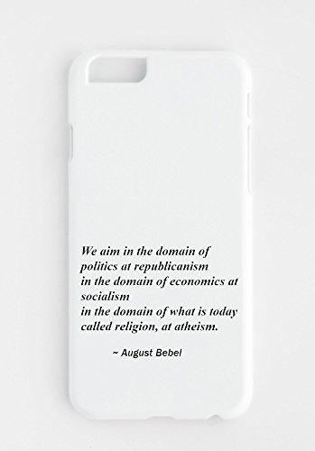 Funda para iPhone con Nuestro objetivo es el dominio de la política en el republicanismo; en el ámbito de la economía en el socialismo; en el dominio de lo que hoy se llama religión, en el ateísmo.