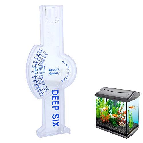 Ouken 1pc Portable Sealevel Automatique Hydrometer Salinity salinimètre Tester l'eau salée Hydrometer Mesure de la mer pour l'eau de mer, l'aquarium, Fishtank, Industrie Marine (Rectangle)