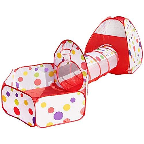 equipo de juego al aire libre para niños, túnel para niños pequeños, tipi de tubo pequeño en forma de cubo 3 en 1 regalo de juegos para niños bebé niña niño juguetes para niños (excepto pelotas)