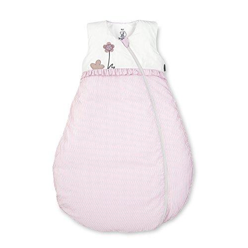 Sterntaler Schlafsack für Kleinkinder, Ganzjährig, Wärmeregulierung, Reißverschluss, Größe: 90, Emmi Girl, Weiß/Rosa