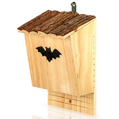 Skojig Casa per Pipistrelli in Legno di Pino e Abete, Casetta Pipistrelli da Giardino, Bat Box Pipistrelli per nidificazione