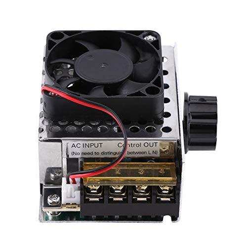Luz Controlador de Motor 1pc del Voltaje eléctrico de la CA 220V 4000W Regulador de Temperatura SCR con el Ventilador Grande de la energía Brillo Dimmer