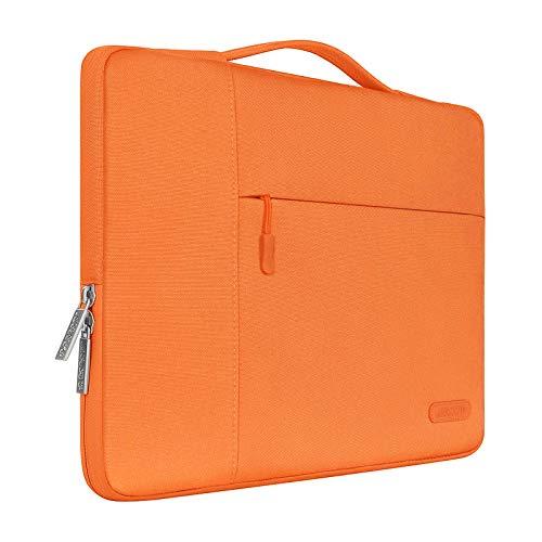 MOSISO Funda Blanda Compatible con 13-13,3 Pulgadas MacBook Air/MacBook Pro Retina/Ordenador Portátil, Poliéster Maletín Protectora Multifuncional Bolso, Naranja