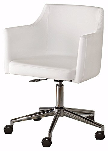 Ashley Furniture Signature Design - Sarvanny Swivel Office Desk Chair - Upholstered Seat - Cream Finish