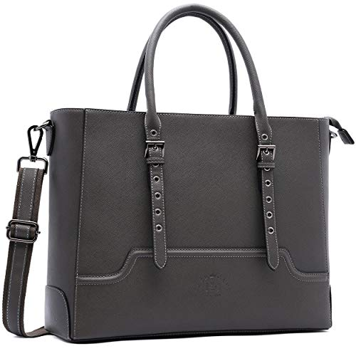 Laptop Bag,15.6 Inch Laptop Tote Briefcase Multi-function Tote Bags Business Women Purse Laptop Case with Spacious Interior for Office College