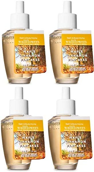 Bath And Body Works 4 Pack Maple Cinnamon Pancakes Wallflowers Fragrances Refill 0 8 Oz