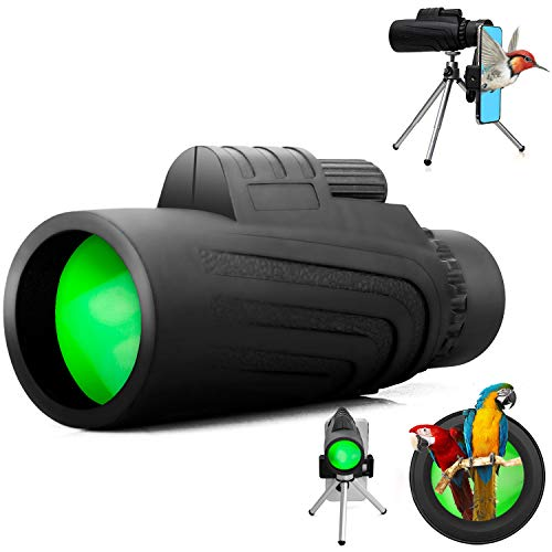 Monocular Telescopes, Schine 40X60 Monocular Telescope HD Binocular Waterproof Shockproof Telescope with Cell Phone Mount & Tripod for Camping Bird Watching Travel Hunting Soccer Game Concert Live